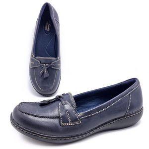 Clarks Ashland Bubble 8.5W Navy Tassel Loafers